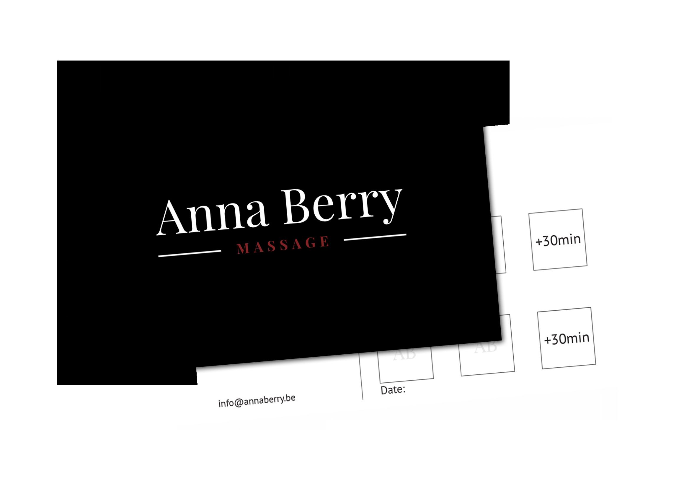 Carte de fidélité Anna Berry